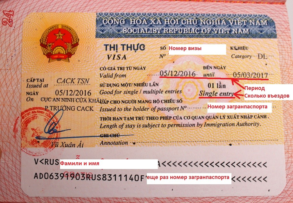 виза вьетнам
