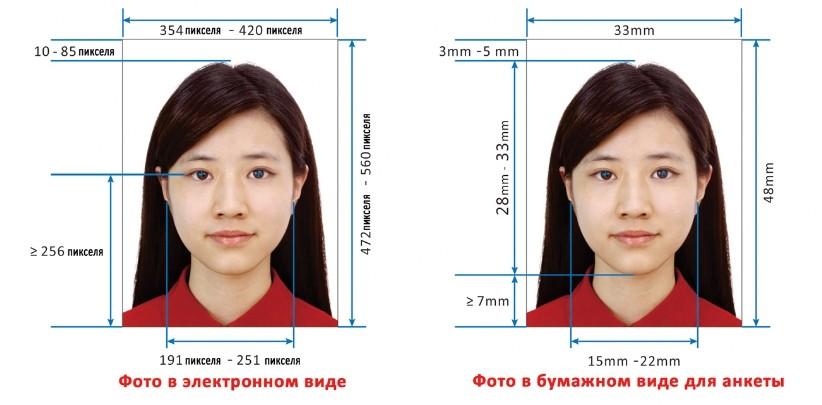 фото на визу китай