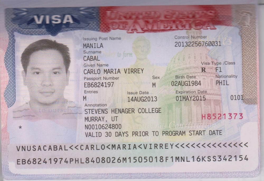 f1 виза